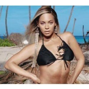 H&M X Beyoncé Fringed Triangle Bikini Top
